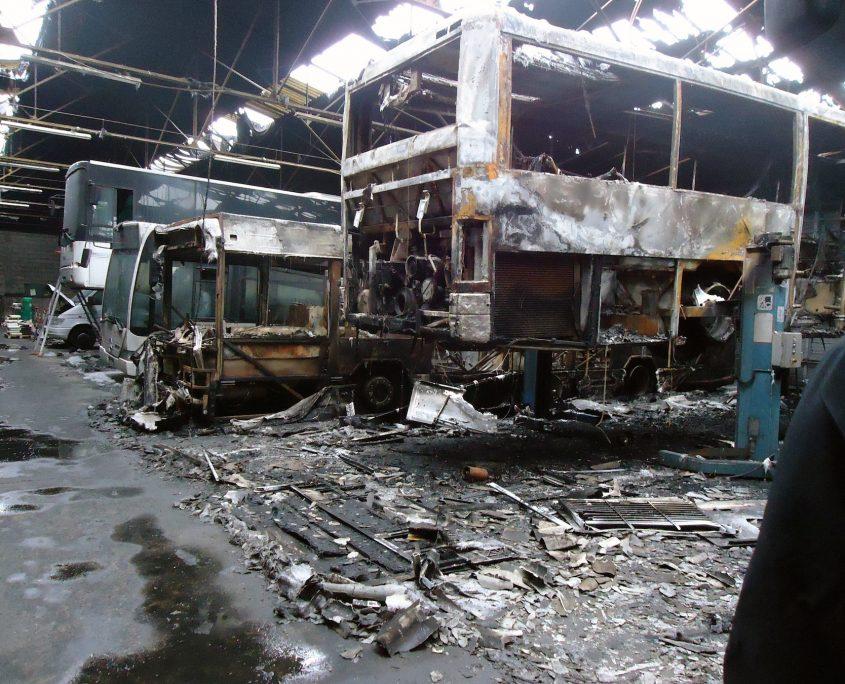 Avant le passage de nos equipes de decontamination suite a un incendie 2